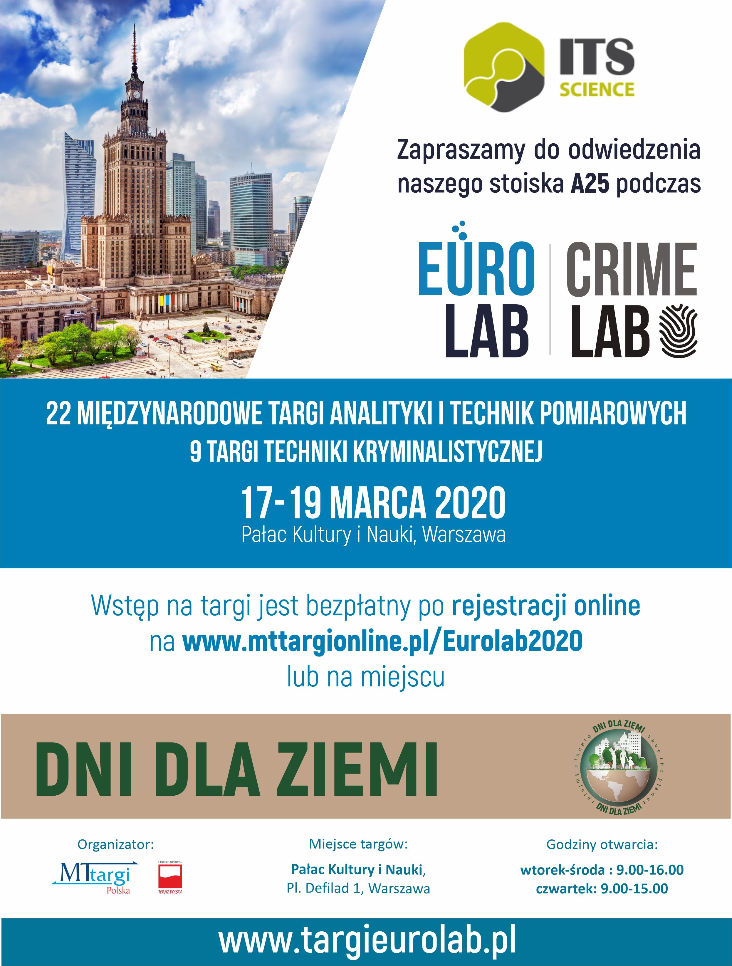 Zapraszamy do odwiedzenia naszego stoiska nr A25 na targach EuroLab 2020